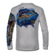 "Grey This shirt is truly awesome, featuring Jason Mathias's ""Sailfish Mahi"" fine art design that is sublimated onto our superior technology that definitely makes for a top favorite among all anglers and outdoor enthusiast world wide!"