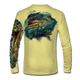 "Pale yellow This shirt is truly awesome, featuring Jason Mathias's ""Sailfish Mahi"" fine art design that is sublimated onto our superior technology that definitely makes for a top favorite among all anglers and outdoor enthusiast world wide!"