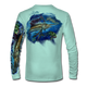 "Seagrass green This shirt is truly awesome, featuring Jason Mathias's ""Sailfish Mahi"" fine art design that is sublimated onto our superior technology that definitely makes for a top favorite among all anglers and outdoor enthusiast world wide!"