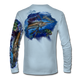 "Arctic blue This shirt is truly awesome, featuring Jason Mathias's ""Sailfish Mahi"" fine art design that is sublimated onto our superior technology that definitely makes for a top favorite among all anglers and outdoor enthusiast world wide!"