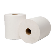 EcoSoft White Roll Towel 6/case