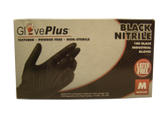 Black Nitrile Gloves by GlovePlus