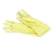 "12"" Yellow Latex Gloves (dozen)"