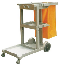 Janitor's Cart and Trash Bag