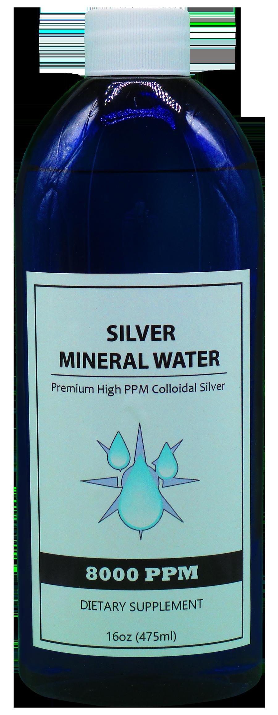 8000 PPM Colloidal Silver 16 Ounce Bottle