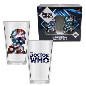 Doctor Who - Third Doctor Anniversary Glass Set