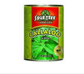 Spur Tree Callaloo packaged in an aluminum can with Green and Red labeling