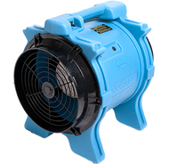 Vortex Axial Fan Powerful, efficient ventilation  This Dri-Eaz airmover will ventilate confined spaces through up to 125 feet of Sto&Go ducting – or propel dry air across large open areas to aid in drying. Improve indoor air quality; remove unwanted odors.  Item #F174-BLU $615 Suggested List U.S. Funds 	    FeaturesSpecsAccessoriesDocumentation  Product Features      Powerful 1.0 hp motor     Built-in handle     Stackable for storage!     Operate standalone or with Sto&Go ducting      Legend Rewards: 500 Points Xactimate: WTRDRY++  WTRDRY  Versatile ventilation.  Use the Vortex to ventilate, create negative pressure, or add to a complete drying system.  The Vortex can be set-up for operation by itself or with up to 125 feet of ducting – making it ideal for ventilation plus a range of drying applications including gyms, concrete pads and hallways.  Powerful and handy.  With its powerful 1.0 hp motor, the Vortex can effectively drive air through ducting or across large open areas.  A built-in handle and simple 1-speed switch make operation a snap.   Product Specifications   Model 	 	F174-BLU Dimensions (H × W × D)	 	19.2 × 18.7 × 15.7 in. 49 × 48 × 40 cm Weight	 	35 lbs. | 16 kg Motor 	 	1.0 hp Motor Speeds 	 	1-speed Max Rated CFM 	 	2041 Static Pressure 	 	3.2 in. | 8.1 cm Power 	 	7.4 amps Operating Positions 	 	One Safety	 	UL listed