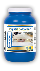 Crystal Defoamer Product Description Foam suppression helps to protects your valuable extraction equipment and ensures maximum vacuum performance during carpet cleaning operations. Product Specifications • Form: Powder • SKU Quantity: Case of four 8 lb. / 3.6 kg jars • Unit Size: 8 lb. / 3.6 kg jar