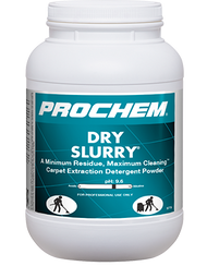 The industry leader and cleaning benchmark for alkaline extraction rinses, Dry Slurry is powerful enough to be used for one-step or two-step hot water extraction cleaning processes and yet gentle enough for use on 5th generation stain-resist nylon carpets. This economical powdered product can be used with truckmounts or portables on most synthetic fibers. Solvent-boosted formulation removes heavy suspended greasy soils, grime and prespray residue that others leave behind.