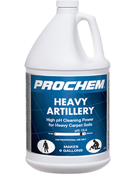 A concentrated, heavy-duty, high-pH carpet pre-spray designed to combat heavily soiled carpets in apartments, rentals, dorms, offices, clinics and health care facilities. VOC-compliant in all 50 states, this product contains potent detergents, surfactants and builders to suspend and lift heavy mineral-based soils such as red dirt, sand, dust and clay.
