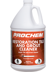 When normal cleaning procedures are not enough, then you have to get tough – and this does the job! This industrial strength acid cleaner will remove embedded mineral deposits and carbonaceous soils such as rust, calcium, urine stains, soap scum, grout haze and efflorescence from manufactured tile and cement grout. Can be used to etch hard-to-clean grout by removing a super fine layer, leaving your grout sparkling bright and clean. Advanced formulation with premium chemistry and corrosion inhibitors. Not recommended for use on most natural stone.