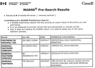 NUANS Preliminary Search