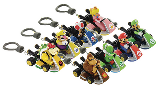 Super Mario Kart Random Figurine Backpack Hanger Keychain
