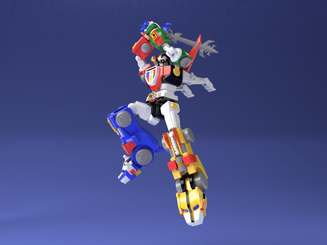 Voltron SDCC Exclusive Shokugan Super Minipla Model Kit