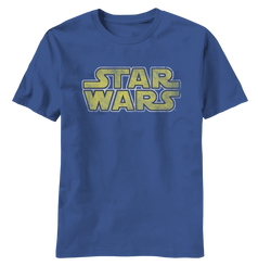 Star Wars Distressed Logo Adult T-Shirt