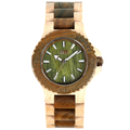 WeWood Date Beige/Army Wood Watch Organic Wooden Natural New In Box