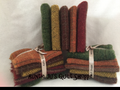 New Mill-Dyed Fall Bundles in F32's and F16's in Gold, Green, Red, Brown & Orange textures, stripes and plaids