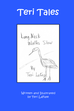 Long Neck Walks Slow lets the child be creative by drawing pictures in the book from examples given.  Inspired by Teri LaFaye's godson, Rylee, Long Neck Walks Slow is a bird you will not forget!