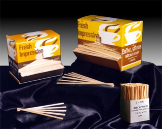 Wood stir sticks are also affordable and made from a renewable source, making them a much better option than plastic stirrers