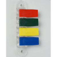 Kull P4 Short Exam Room Flags Primary Color, 4 Flags