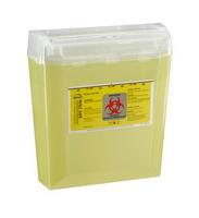 Bemis 150-040 Yellow Sharps Container 5 Qt - 24/Cs