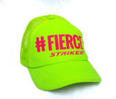 #FIERCE  Neon Yellow  Trapper Trucker Hat (UNISEX )