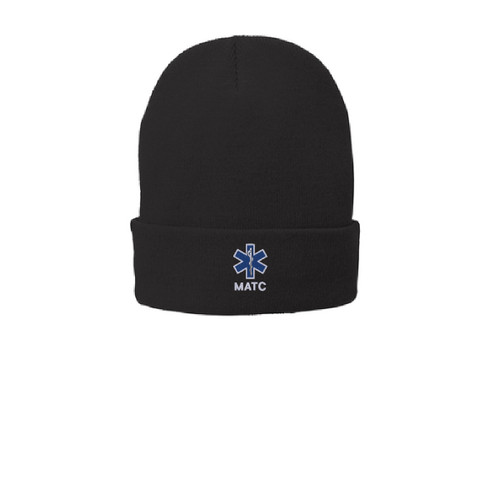 Black Knit cap style and fully lined it with fleece for additional warmth and comfort. Fabric 100% acrylic with 100% polyester fleece lining