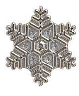 Silver Glitter Snowflake Key Finder