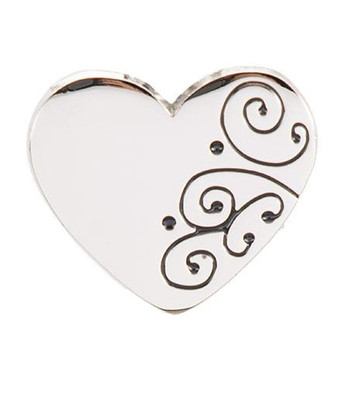 Silver Scroll Heart