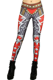 Red Steel Horde Armor Leggings