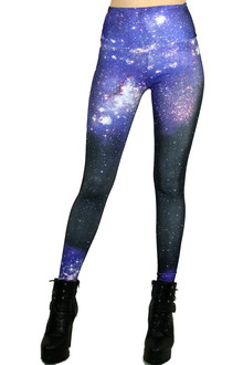 High Waisted Galaxy Leggings