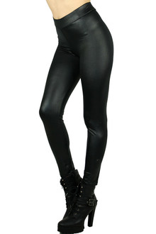 Black Matte Liquid Cotton Leggings