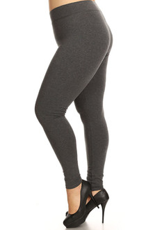 Plus Size High Waisted Cotton Sport Leggings