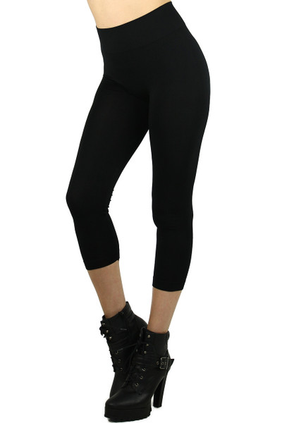 Basic Spandex Capri Leggings | World of Leggings
