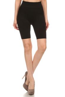 Nylon Spandex Biker Shorts