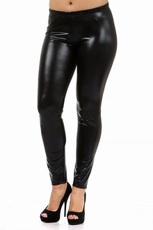 Plus Size Faux Leather Leggings | World of Leggings