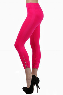 Gem Studded Seamless Capri Leggings