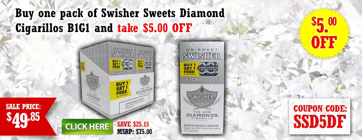 Swisher Sweets Diamond Cigarillos B1G1