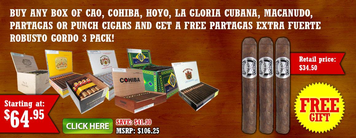 Partagas Extra Fuerte Robusto Gordo 3 Pack