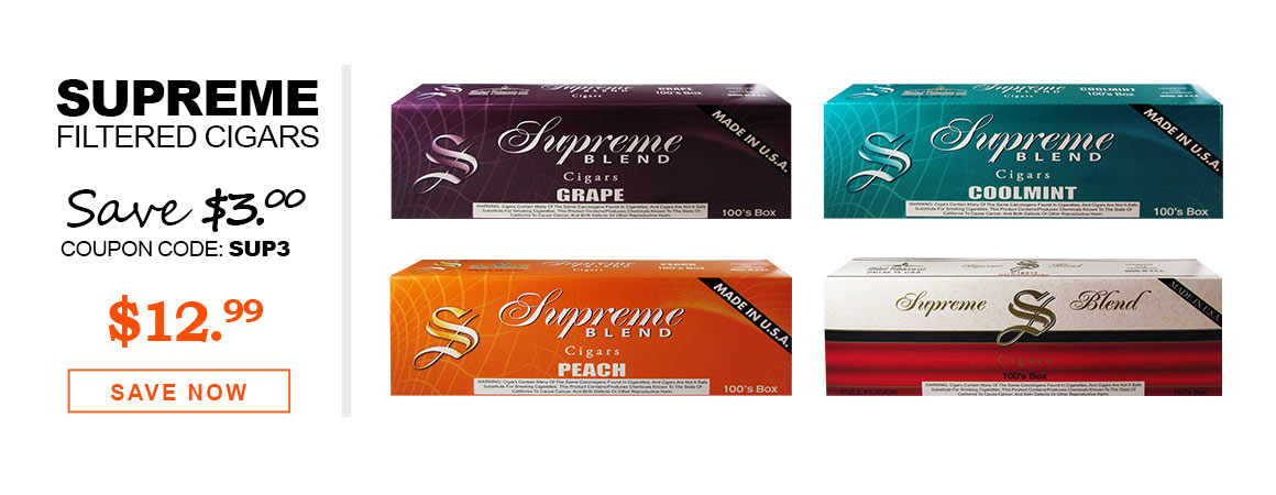 Supreme Blend Filtered Cigars