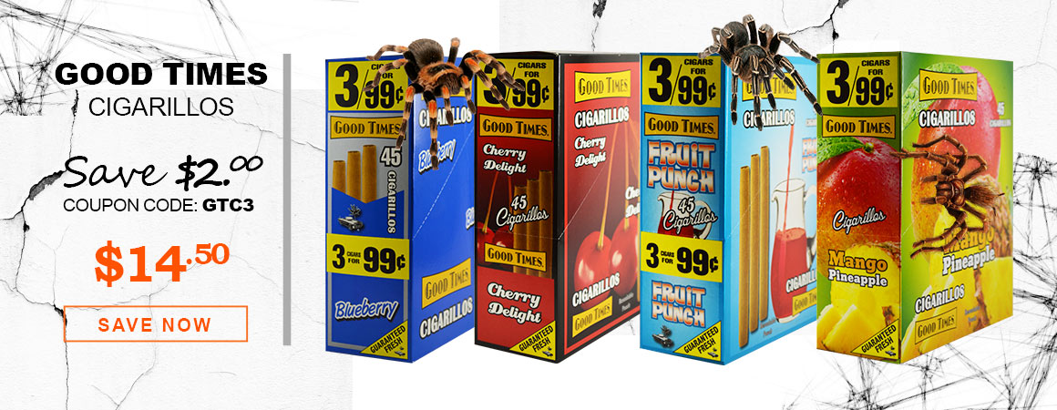 Good Times Cigarillos 3 for $0.99