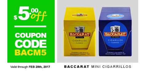 Baccarat Mini Cigarillos
