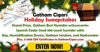 Gotham Cigars Holiday Sweepstakes