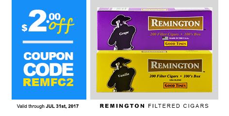 Remington Filtered Cigars