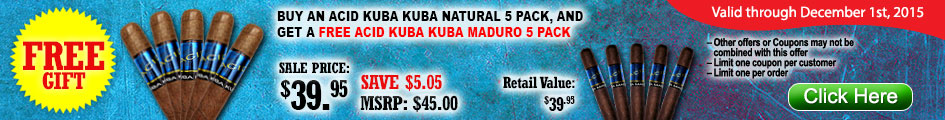 B1G1 Acid Kuba Kuba Natural Deal!