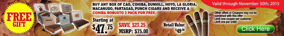 Cohiba Robusto Cigars