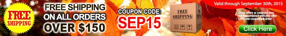 September Free Shipping Coupon Code