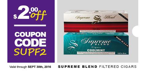 Supreme Blend Filtered Cigars