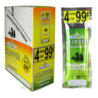 Clipper Cigarillos Foil Pack Pineapple 4 for $0.99 Upright & Stick
